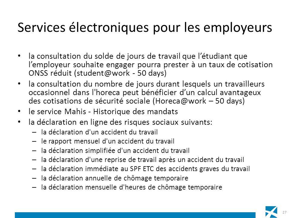 Services électroniques pour les employeurs