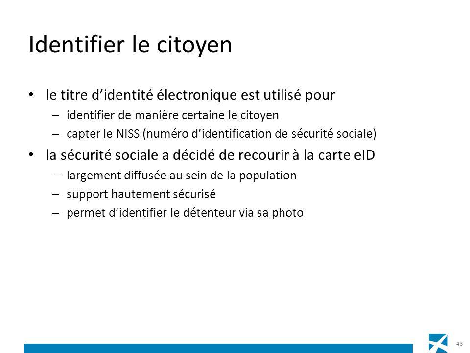 Identifier le citoyen le titre d'identité électronique est utilisé pour. identifier de manière certaine le citoyen.