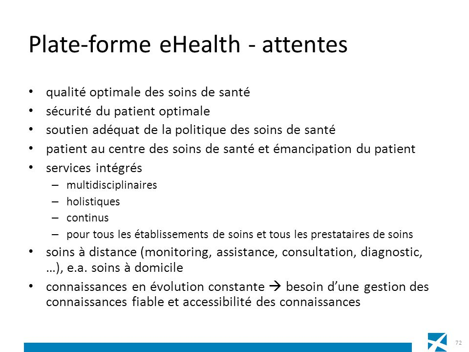 Plate-forme eHealth - attentes