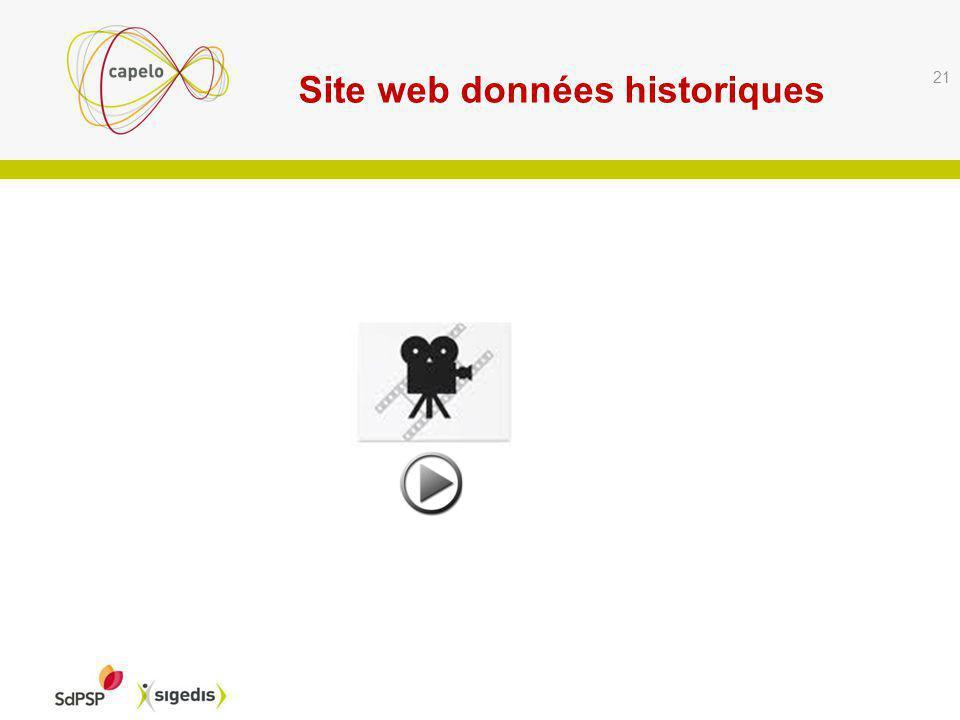 Site web données historiques