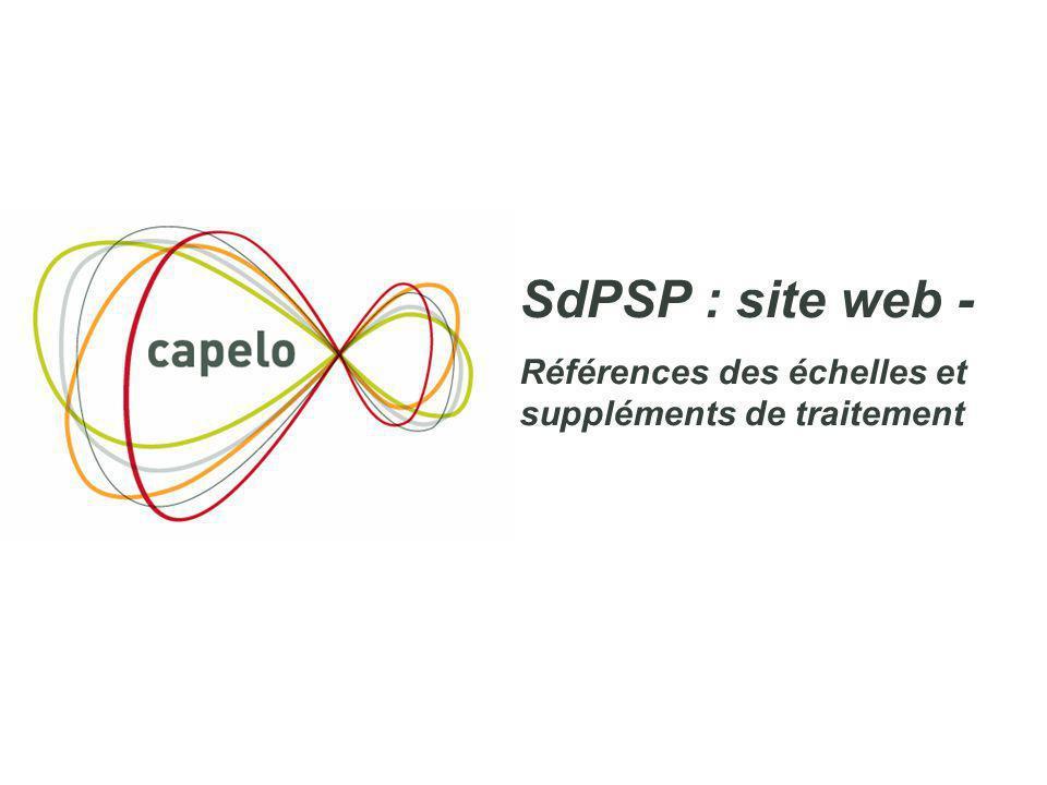 SdPSP : site web - Références des échelles et suppléments de traitement