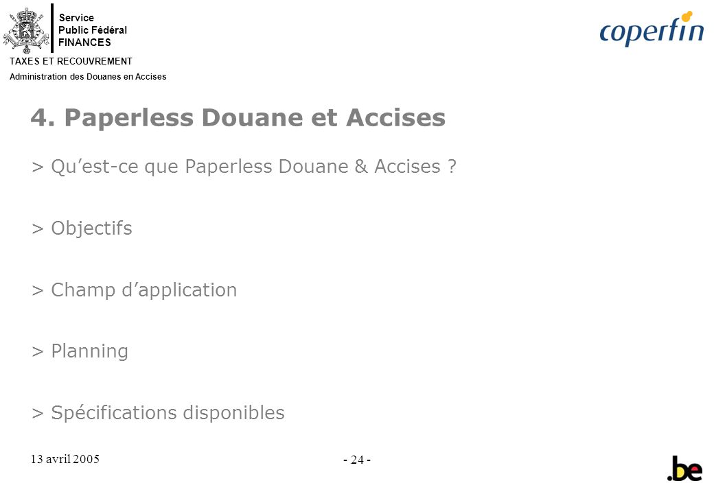 4. Paperless Douane et Accises