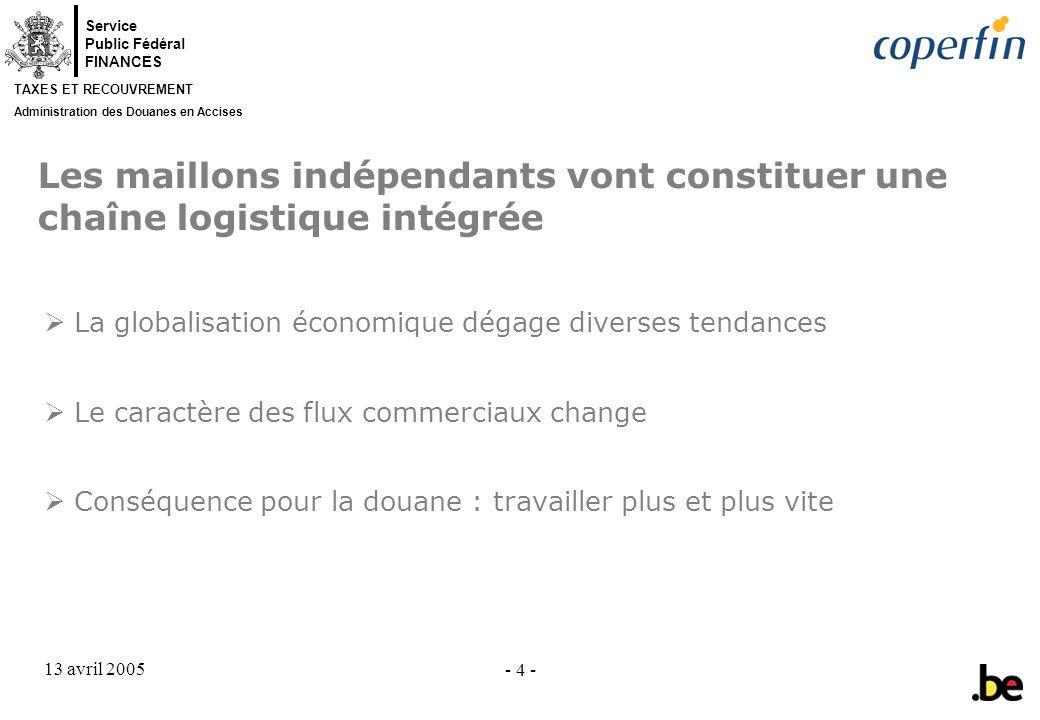 Les maillons indépendants vont constituer une chaîne logistique intégrée