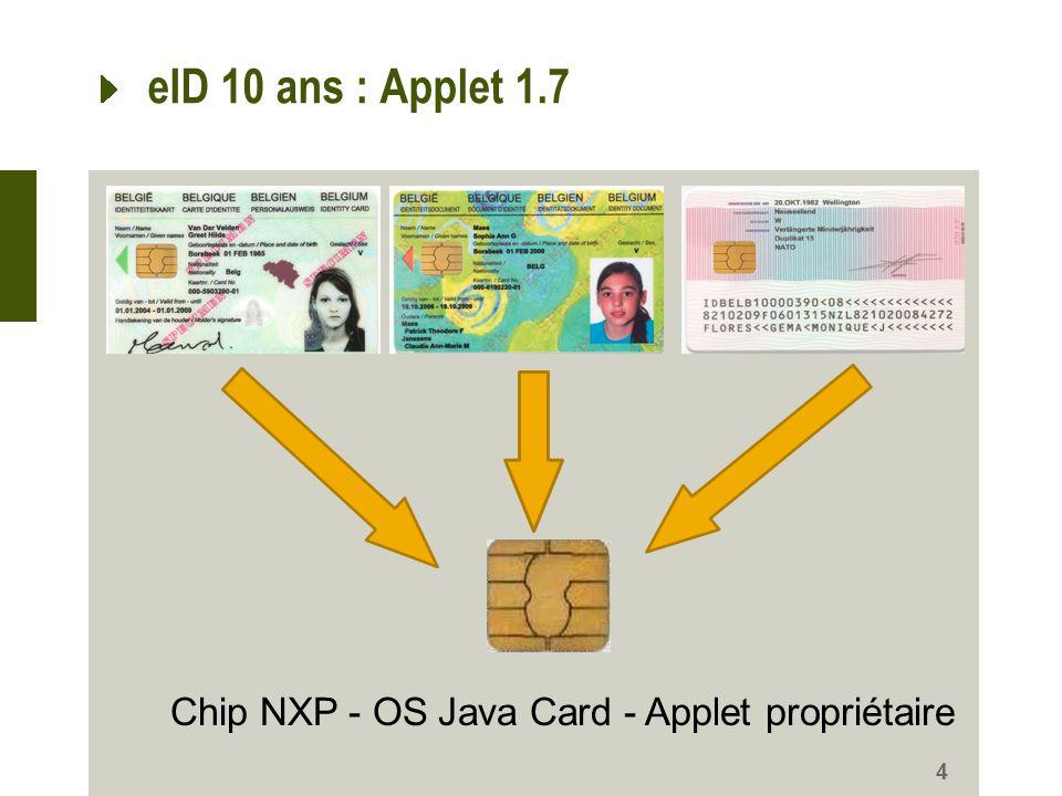 Chip NXP - OS Java Card - Applet propriétaire