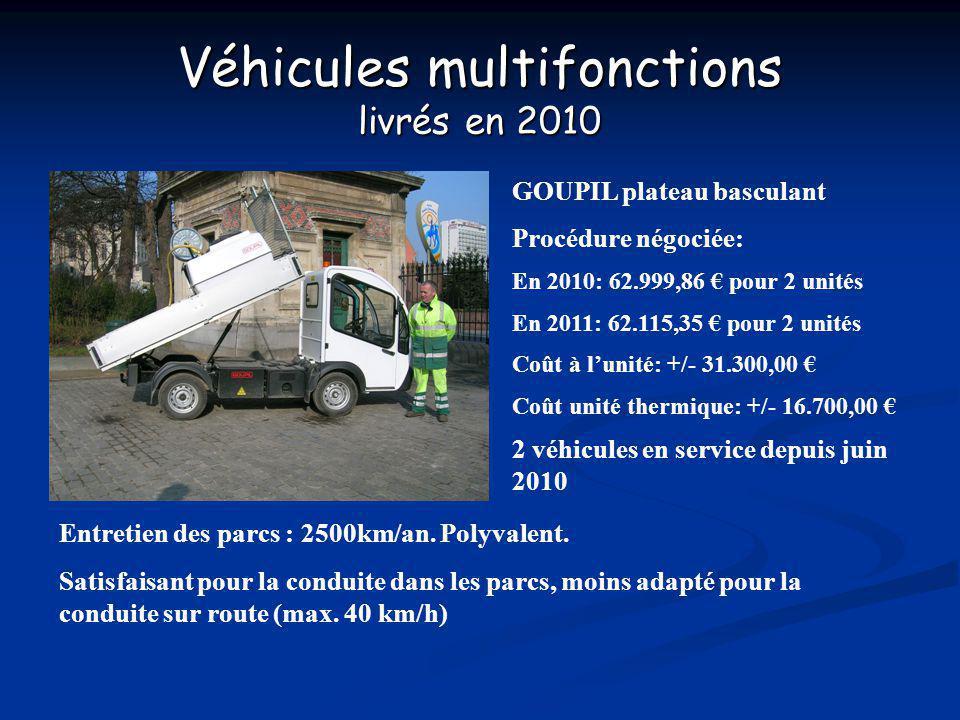 Véhicules multifonctions livrés en 2010