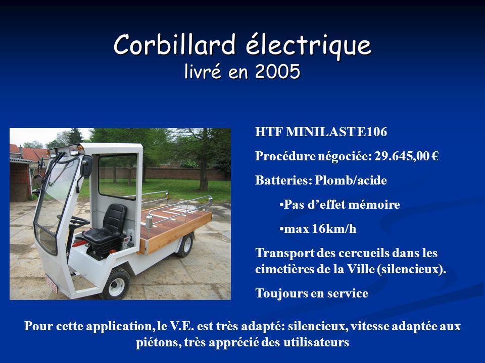 Corbillard électrique livré en 2005