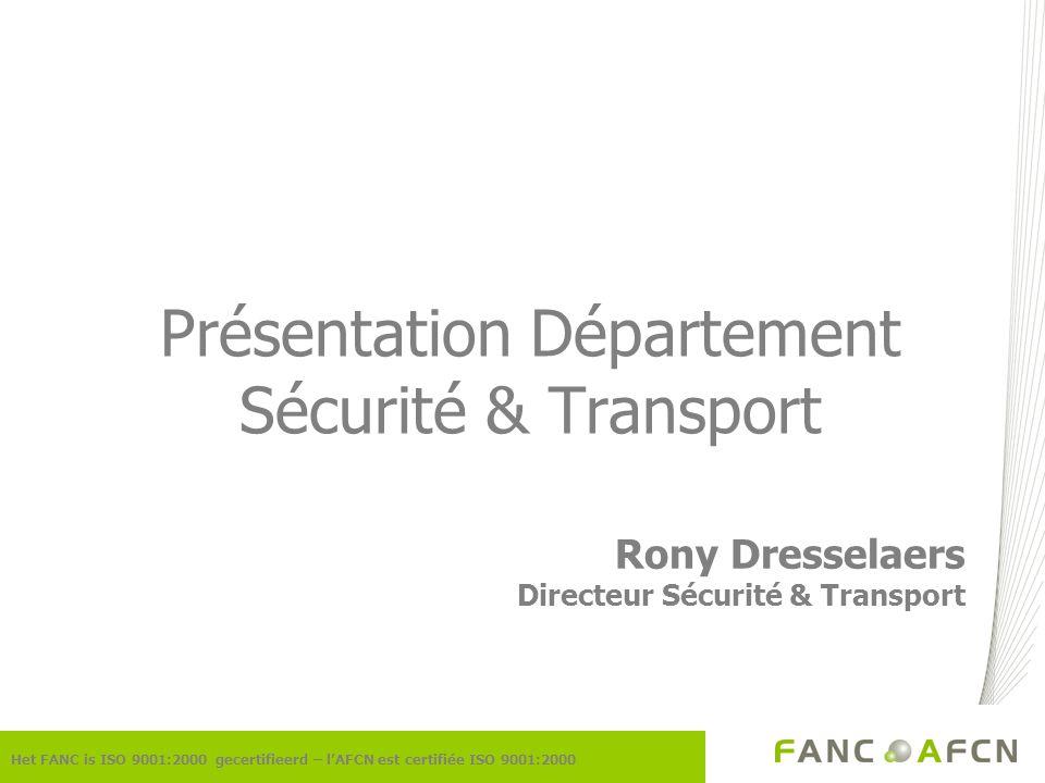 Présentation Département Sécurité & Transport