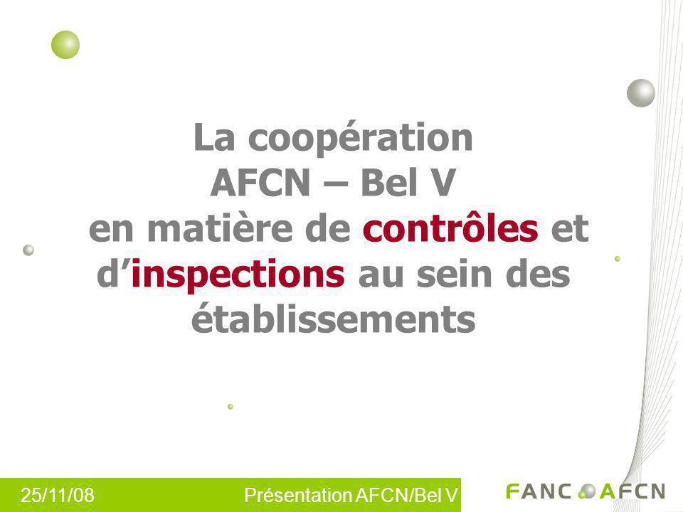 La coopération AFCN – Bel V en matière de contrôles et d'inspections au sein des établissements