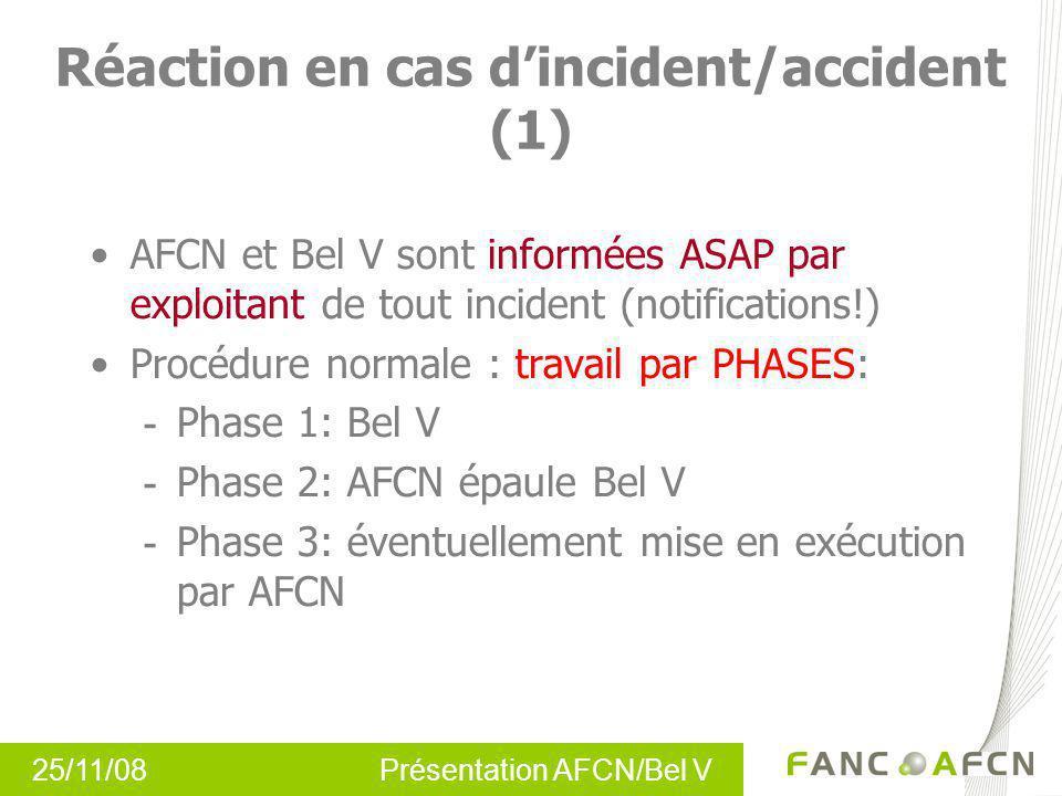 Réaction en cas d'incident/accident (1)