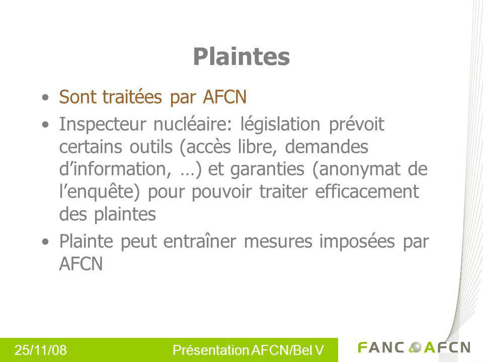 Plaintes Sont traitées par AFCN