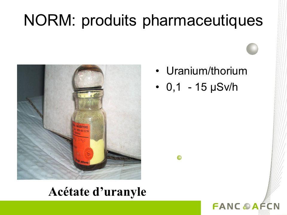 NORM: produits pharmaceutiques