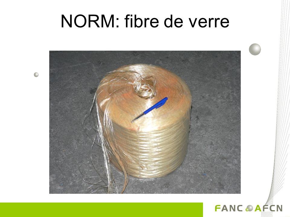 NORM: fibre de verre