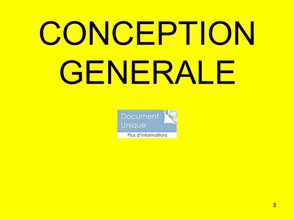 CONCEPTION GENERALE