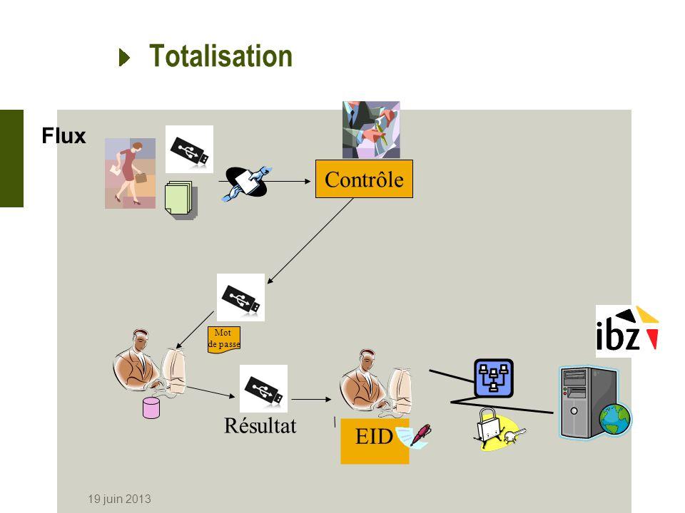 Totalisation Flux Contrôle Mot de passe Résultat EID 19 juin 2013