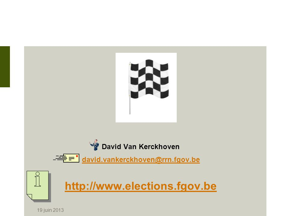 http://www.elections.fgov.be David Van Kerckhoven