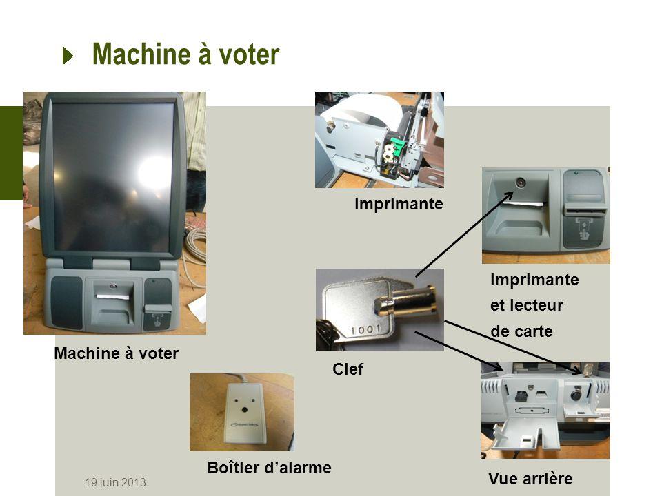 Machine à voter Imprimante Imprimante et lecteur de carte
