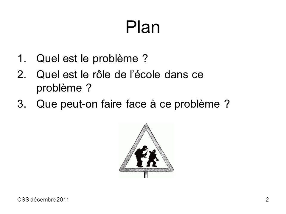 Plan Quel est le problème