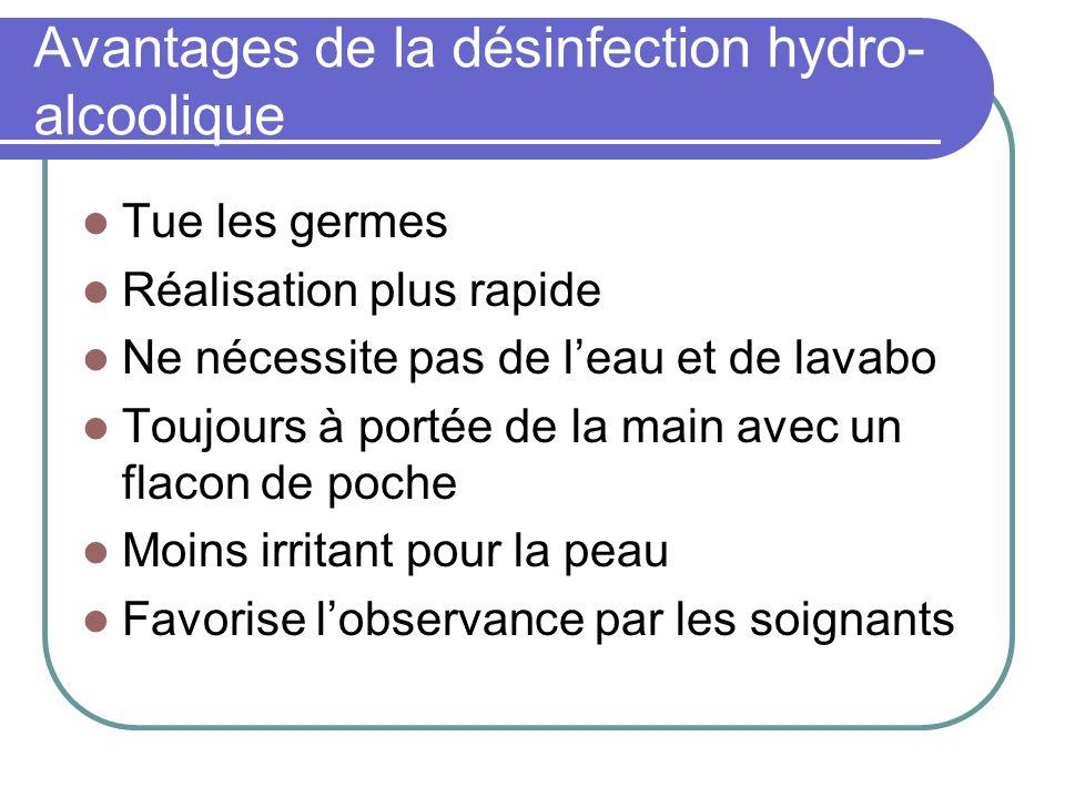 Avantages de la désinfection hydro-alcoolique