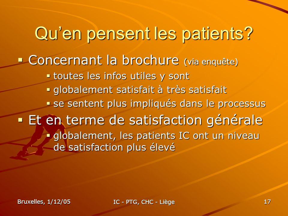 Qu'en pensent les patients