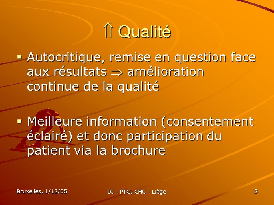  Qualité Autocritique, remise en question face aux résultats  amélioration continue de la qualité.
