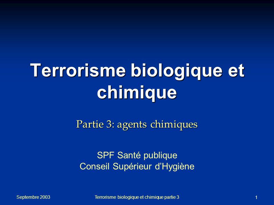 Terrorisme biologique et chimique