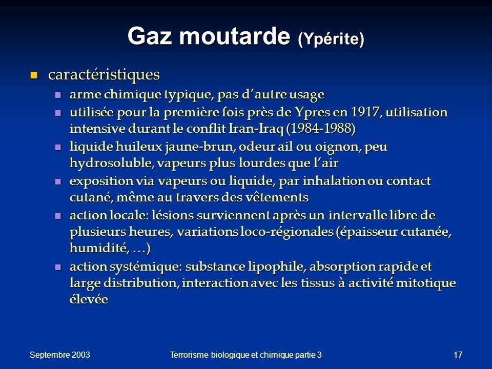 Gaz moutarde (Ypérite)