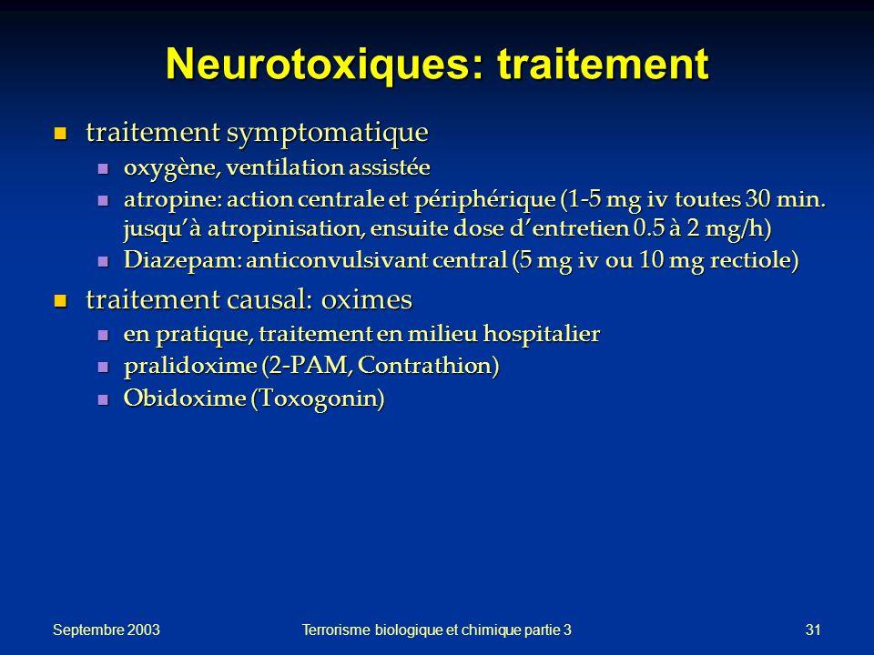 Neurotoxiques: traitement