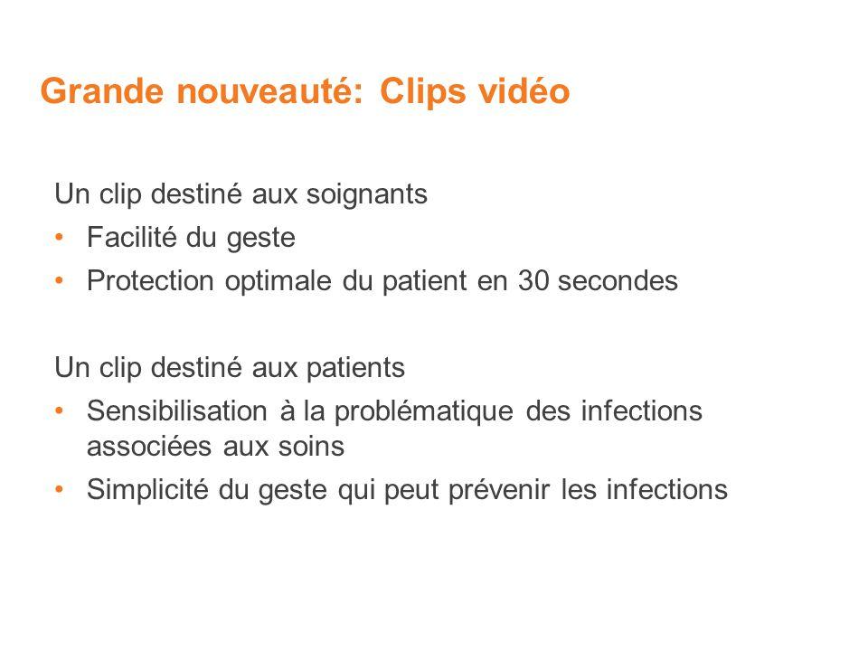 Grande nouveauté: Clips vidéo