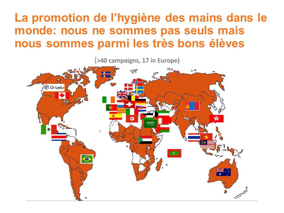 La promotion de l'hygiène des mains dans le monde: nous ne sommes pas seuls mais nous sommes parmi les très bons élèves