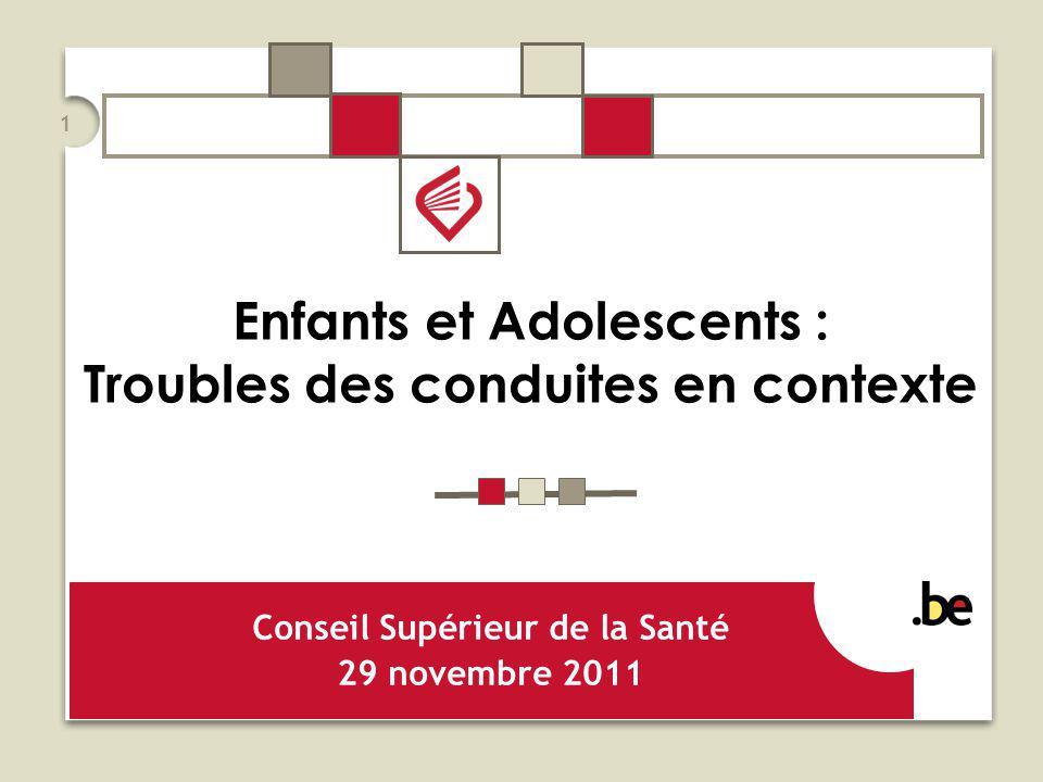 Enfants et Adolescents : Troubles des conduites en contexte