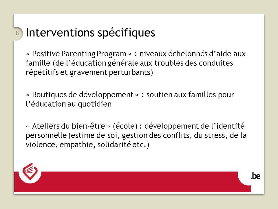 Interventions spécifiques