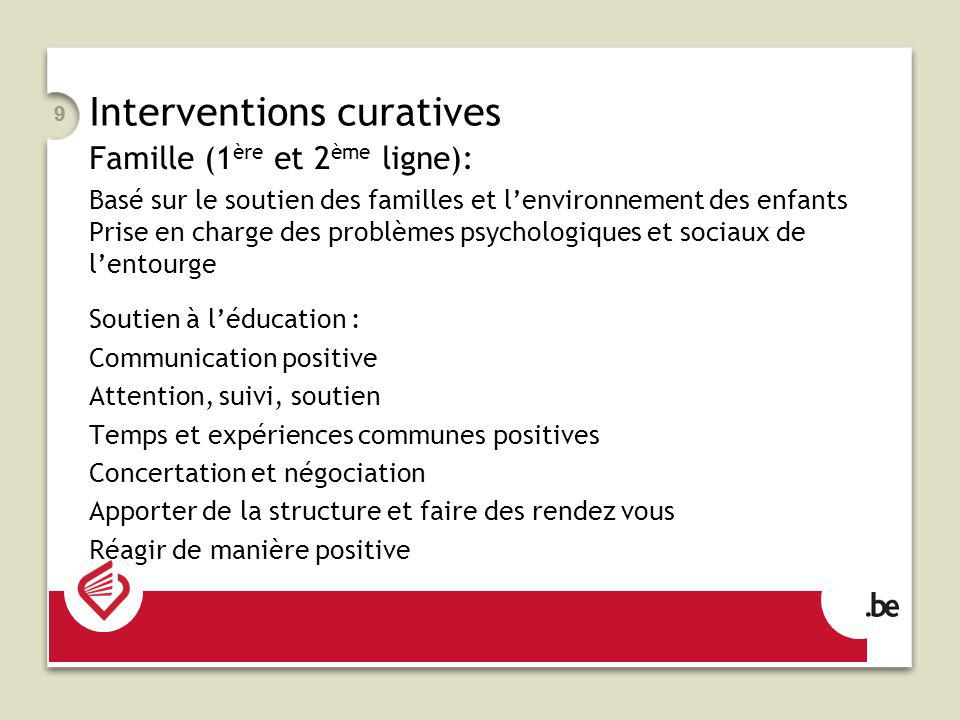 Interventions curatives