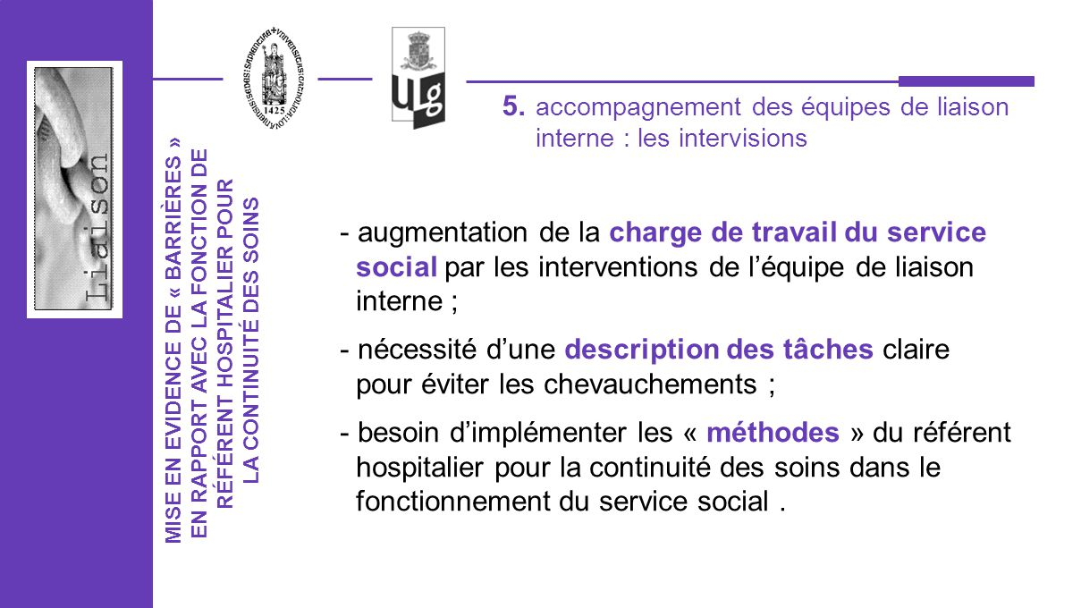 augmentation de la charge de travail du service