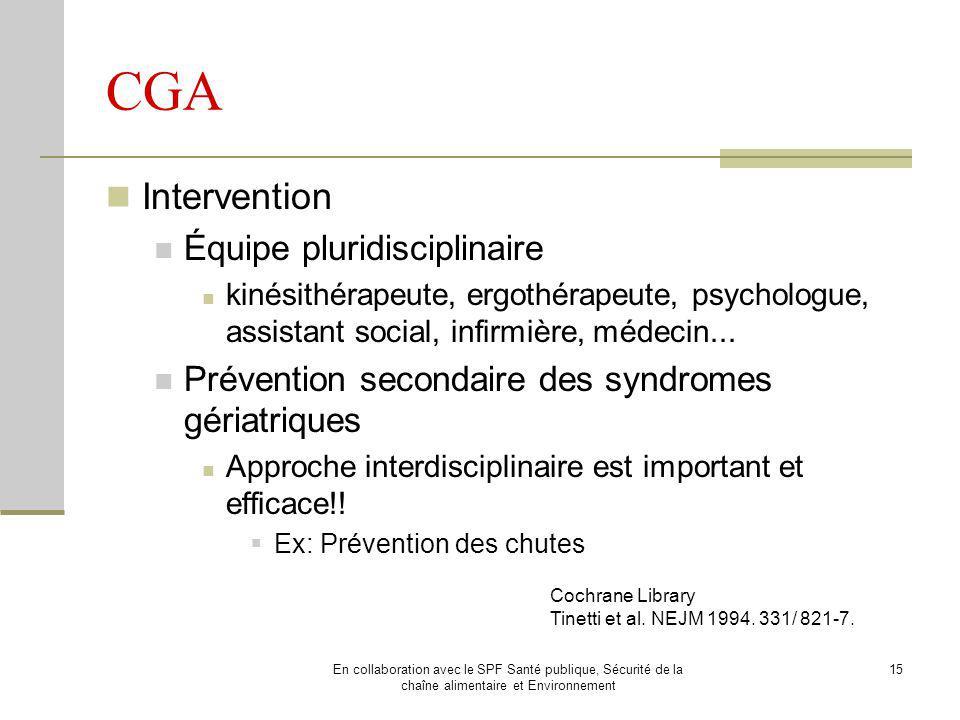 CGA Intervention Équipe pluridisciplinaire