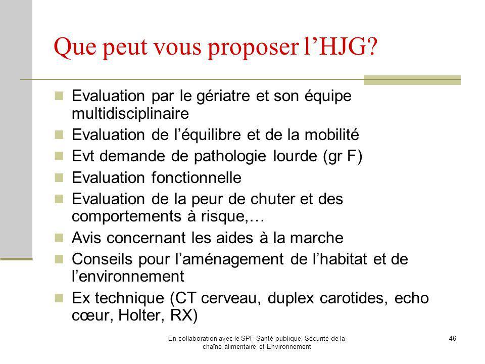 Que peut vous proposer l'HJG