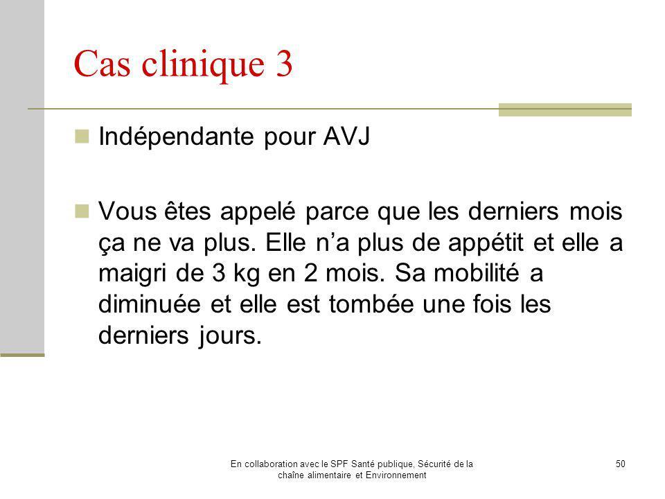 Cas clinique 3 Indépendante pour AVJ