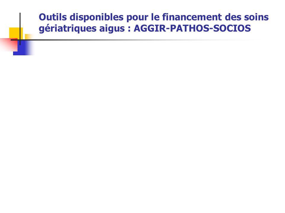 Outils disponibles pour le financement des soins gériatriques aigus : AGGIR-PATHOS-SOCIOS