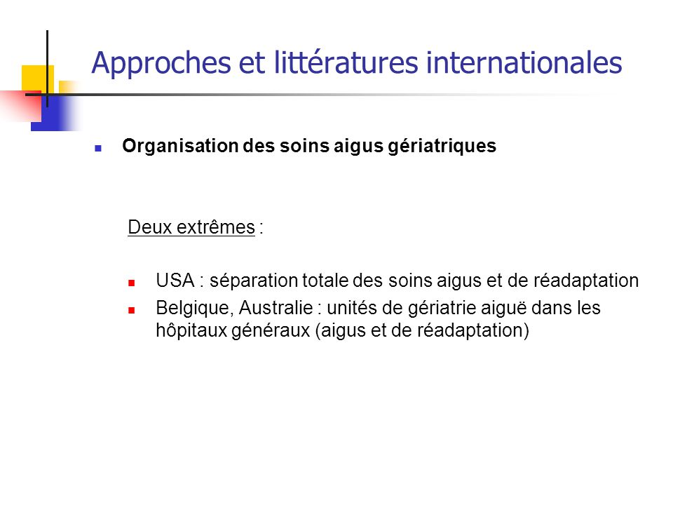 Approches et littératures internationales