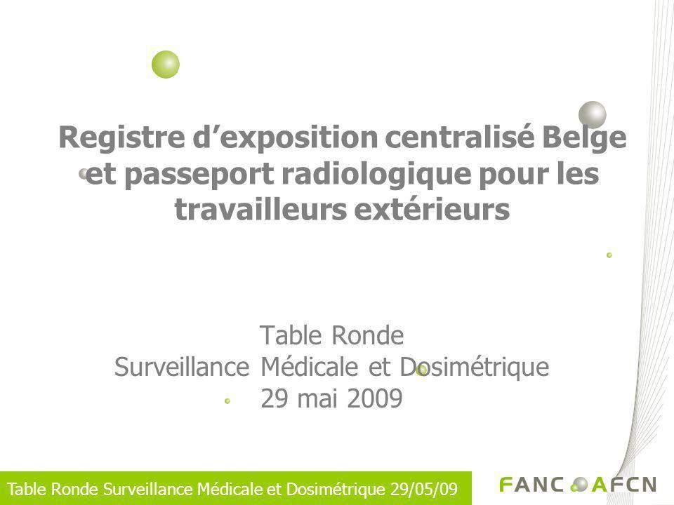 Table Ronde Surveillance Médicale et Dosimétrique 29 mai 2009