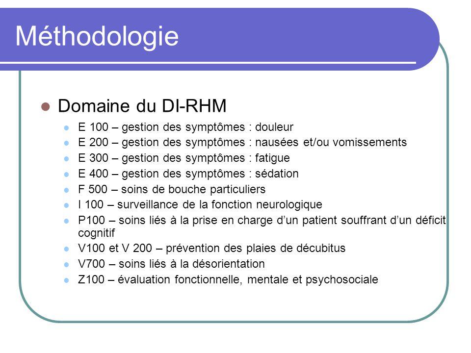 Méthodologie Domaine du DI-RHM E 100 – gestion des symptômes : douleur