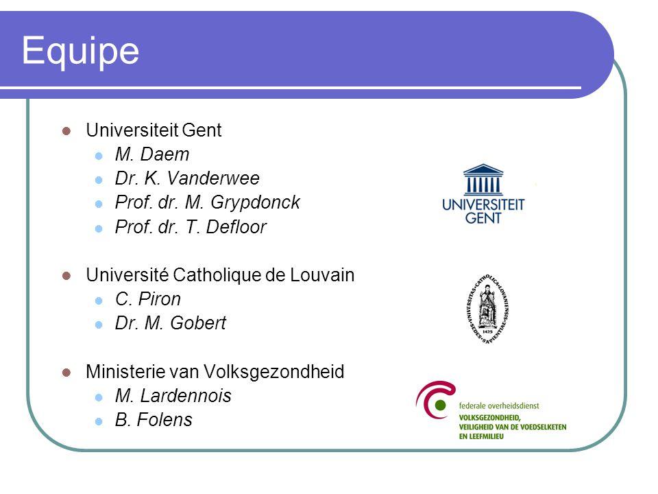Equipe Universiteit Gent M. Daem Dr. K. Vanderwee