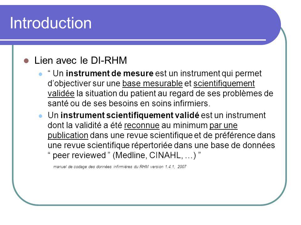 Introduction Lien avec le DI-RHM