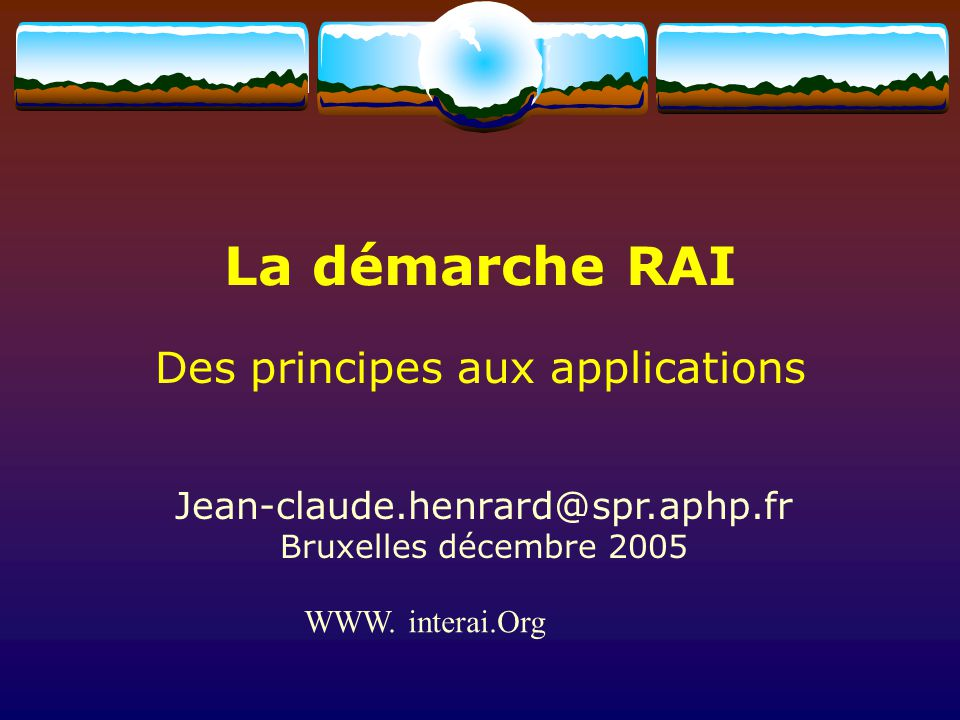 Des principes aux applications
