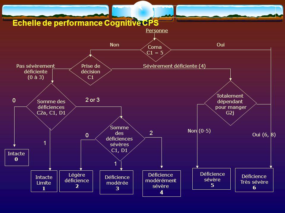 Echelle de performance Cognitive CPS