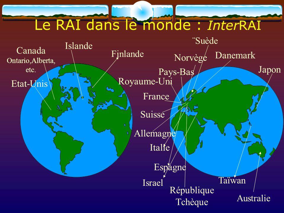 Le RAI dans le monde : InterRAI