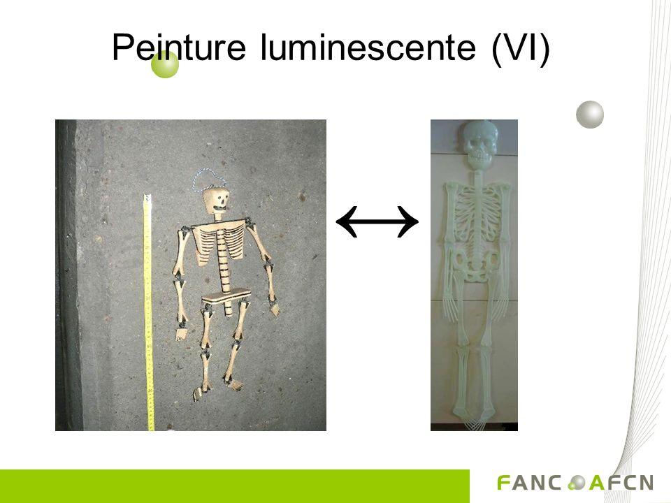 Peinture luminescente (VI) ↔