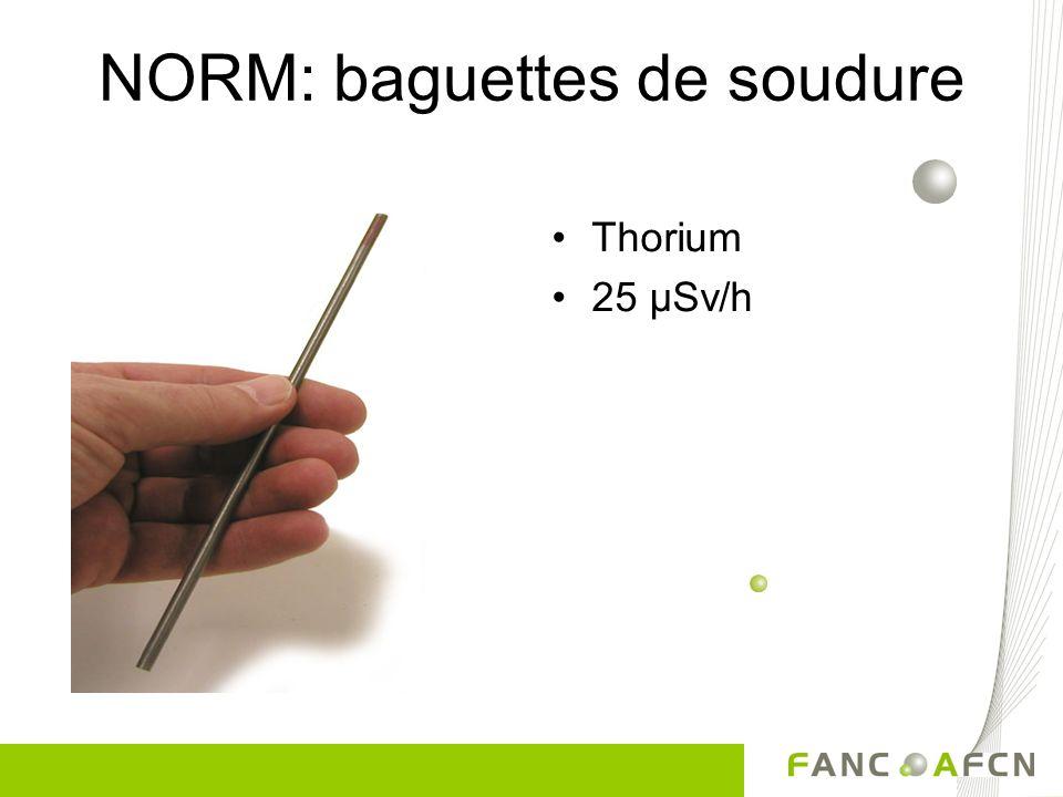 NORM: baguettes de soudure