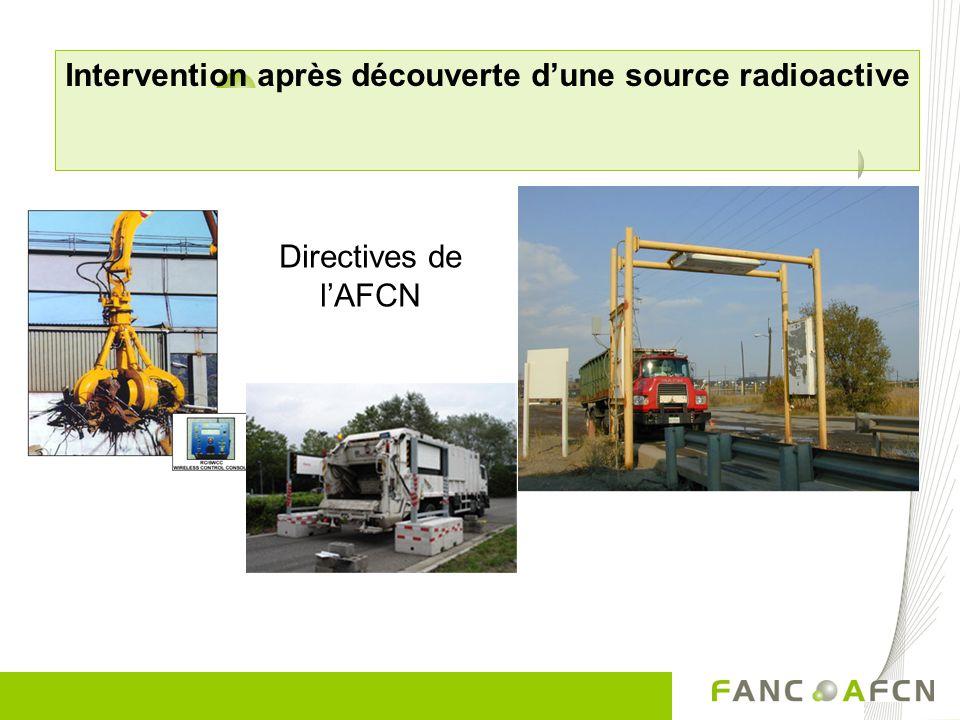 Intervention après découverte d'une source radioactive