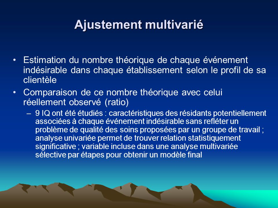 Ajustement multivarié