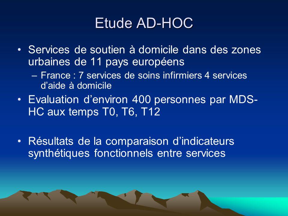Etude AD-HOC Services de soutien à domicile dans des zones urbaines de 11 pays européens.